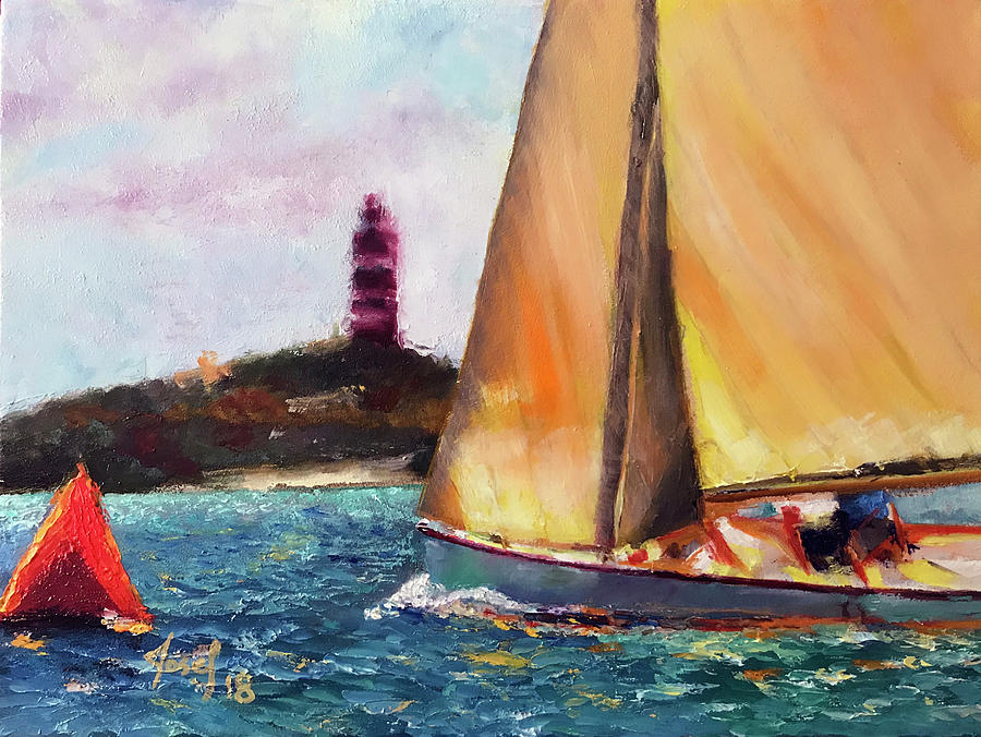 Abacos Painting - Abaco Rage On The Mark by Josef Kelly