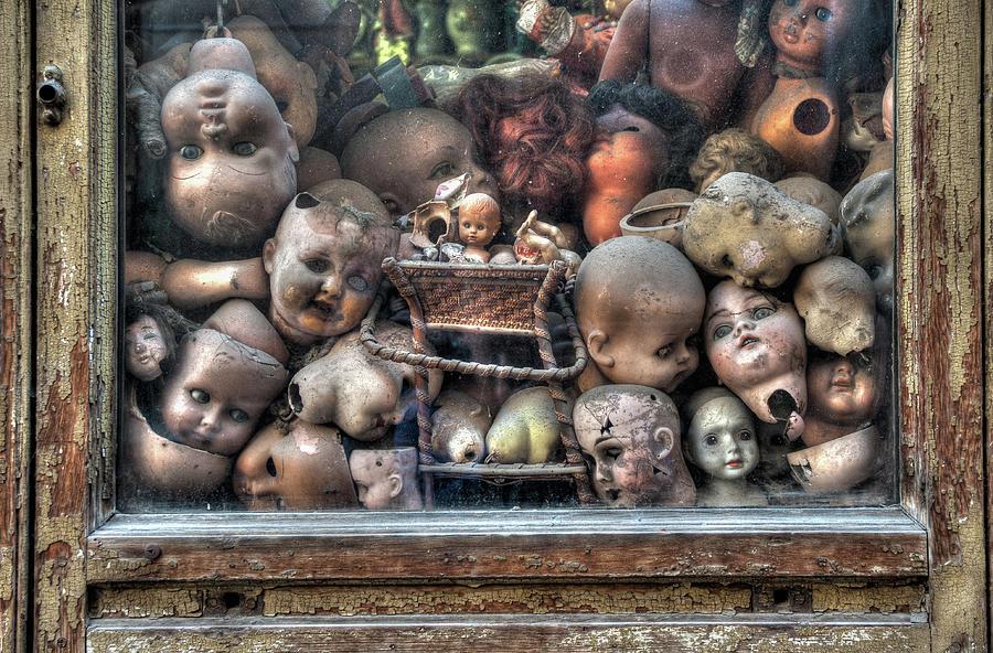 Italy Photograph - Abandoned Doll Heads by Ian Robert Knight