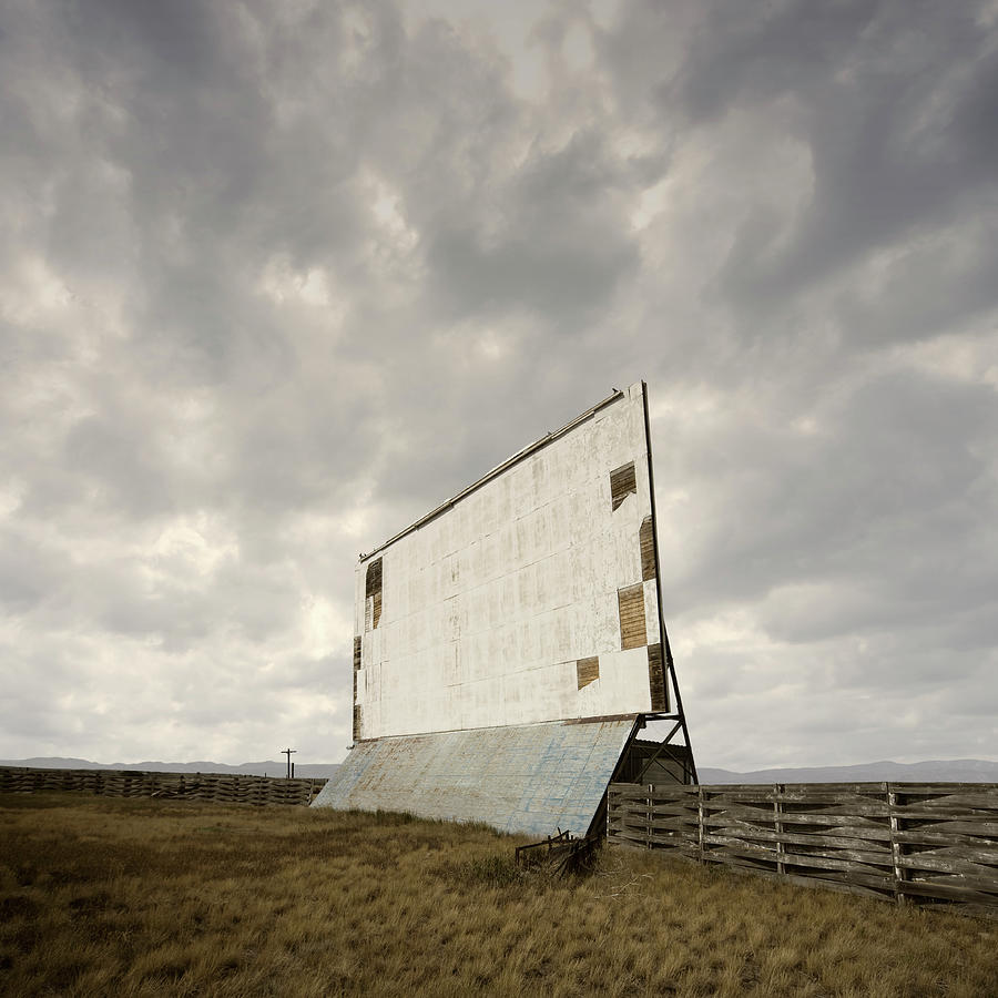 Abandoned Drive-in Movie Theater Screen Photograph by Ed Freeman