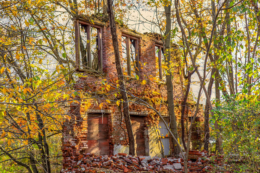 Abandoned Factory in the Fall by John A Megaw