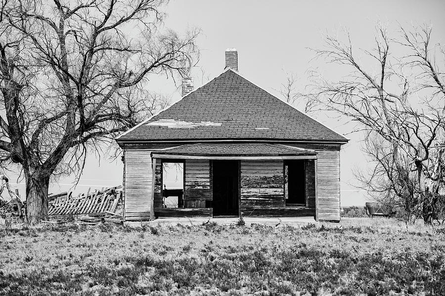 Abandoned Farmhouse on the Open Prairie by Keith Dotson