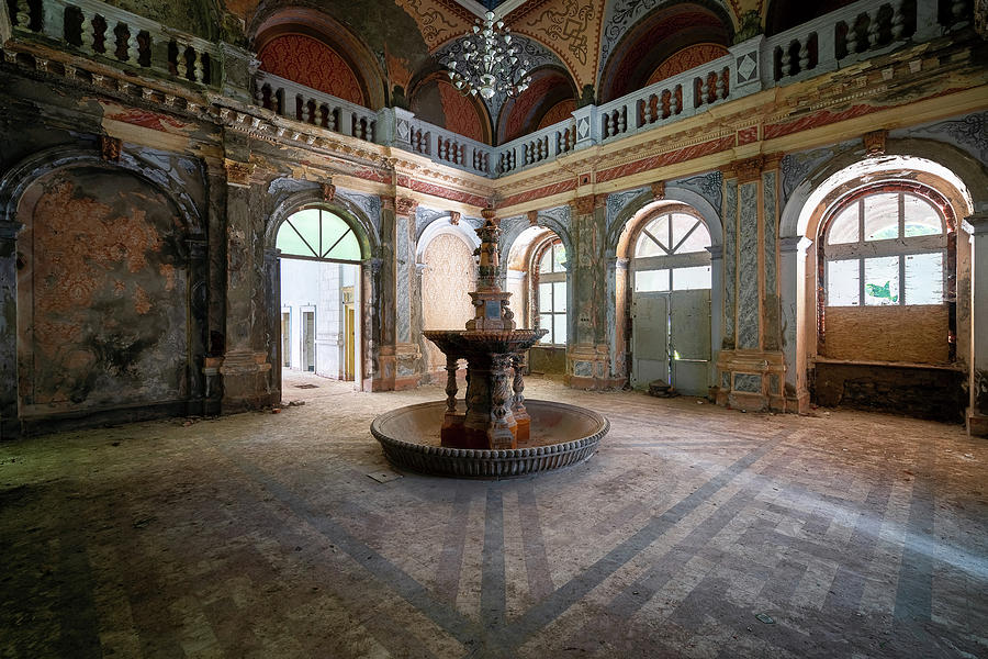 Abandoned Fountain in Decay by Roman Robroek