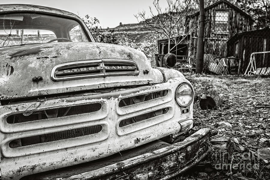 Pickup Photograph - Abandoned Ghost Town Studebaker Truck by Edward Fielding