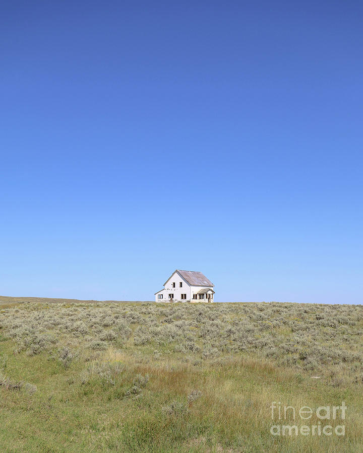 Ringling Photograph - Abandoned House Ringling Montana by Edward Fielding