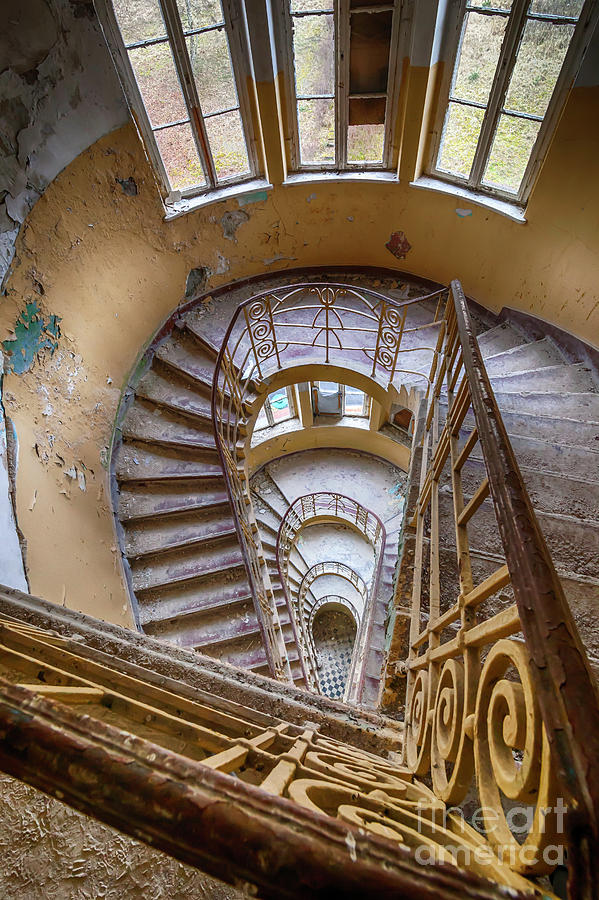 Abandoned House Staircase Photograph by Katharina Muchow
