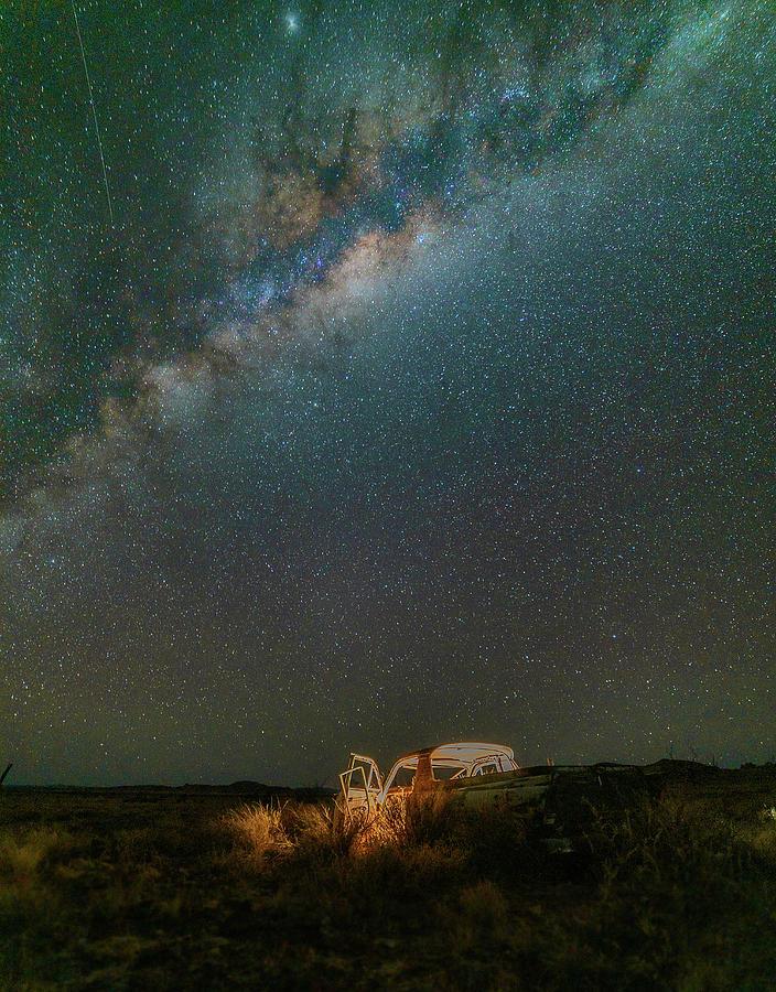 Milky Way Photograph - Abandoned Light by Mark Vegera