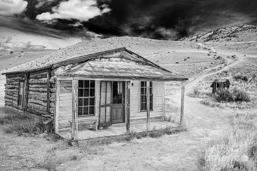 Bozeman Photograph - Abandoned Miners Log Cabin Bannack Montana by Edward Fielding