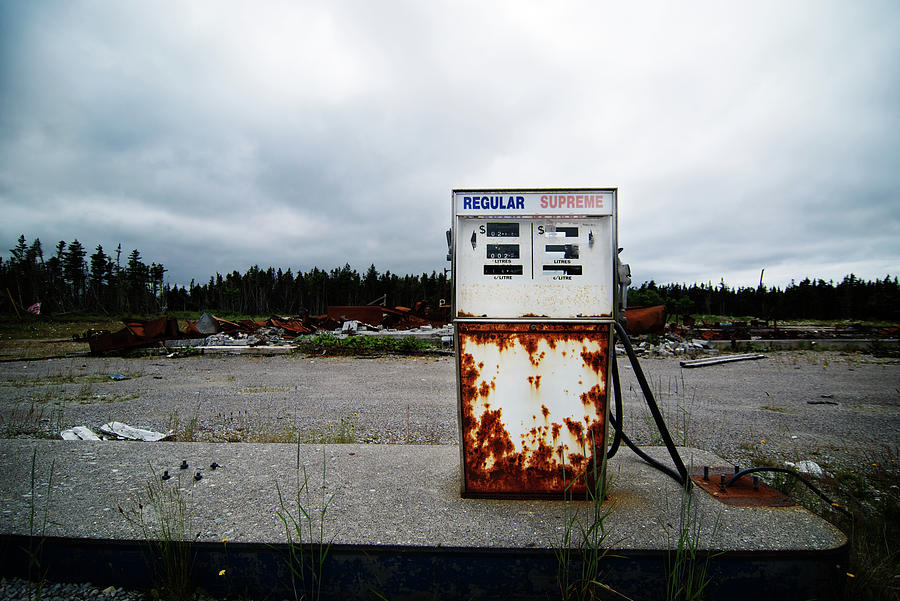 Abandoned Oil Station Photograph by Mmac72
