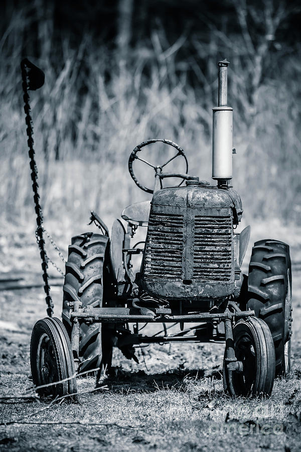 Vermont Photograph - Abandoned Old Farm Tractor by Edward Fielding