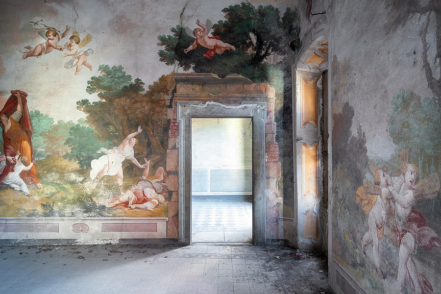 Abandoned Palace with Fresco by Roman Robroek
