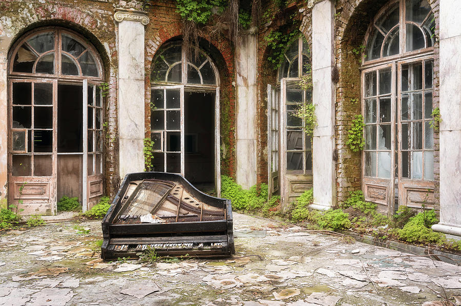 Abandoned Palace with Piano by Roman Robroek