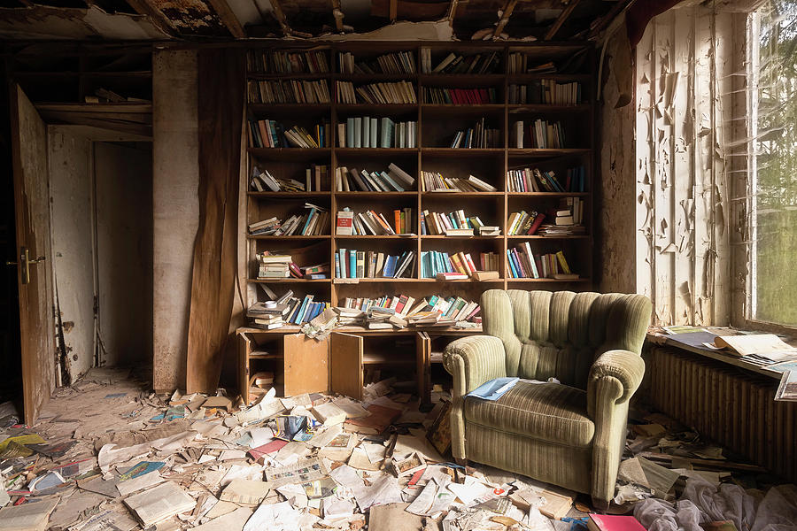 Abandoned Reading Room by Roman Robroek