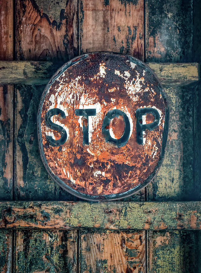 Abandoned STOP Sign Abstract by Gary Slawsky