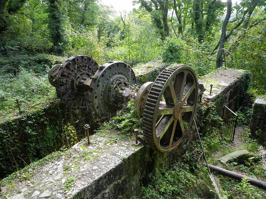 Abandoned Waterwheel Luxulyan Valley Cornwall by Richard Brookes
