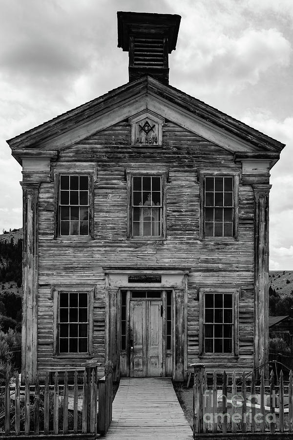 School Photograph - Abandoned Western Ghost Town School House Bannack Montana by Edward Fielding