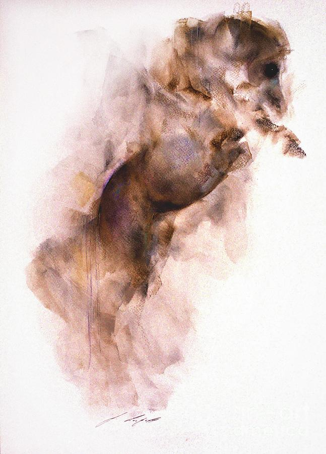 Horse Painting - Abbacus by Janette Lockett