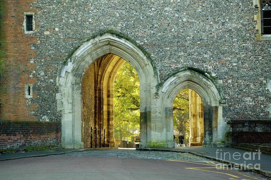Gate Photograph - Abbey Gateway St Albans Hertfordshire by Louise Heusinkveld