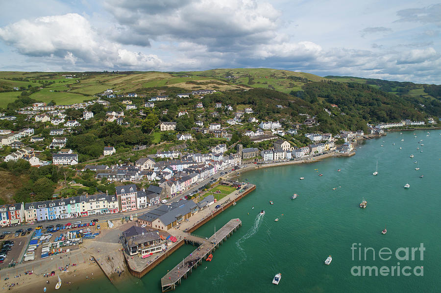 Caa Photograph - Aberdyfi From The Air by Keith Morris