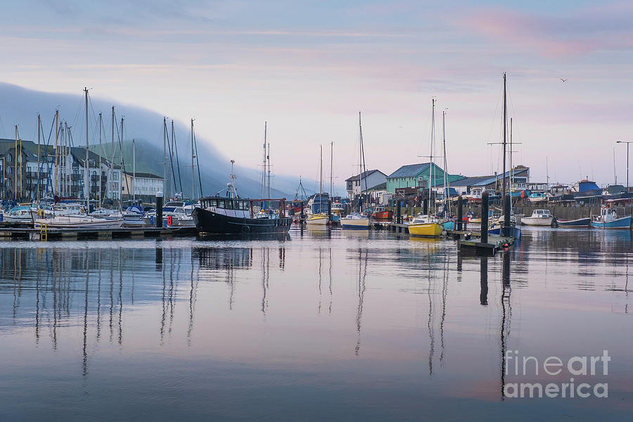 Reflections Photograph - Aberystwyth Harbour In The Eatly Morning by Keith Morris