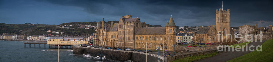 Aberystwyth Photograph - Aberystwyth Seafront Panorama by Keith Morris