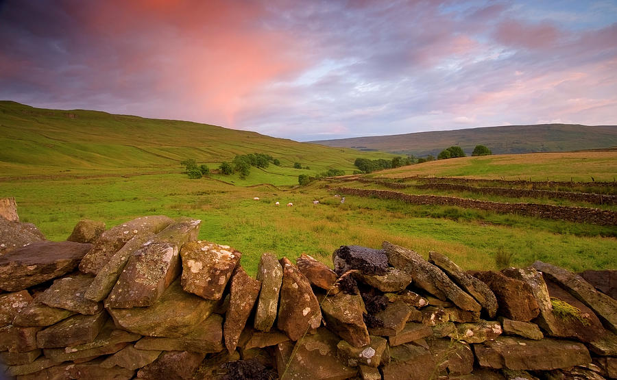 Scenic Photograph - Above Kettlewell After Sunset by Pixelda Picture License