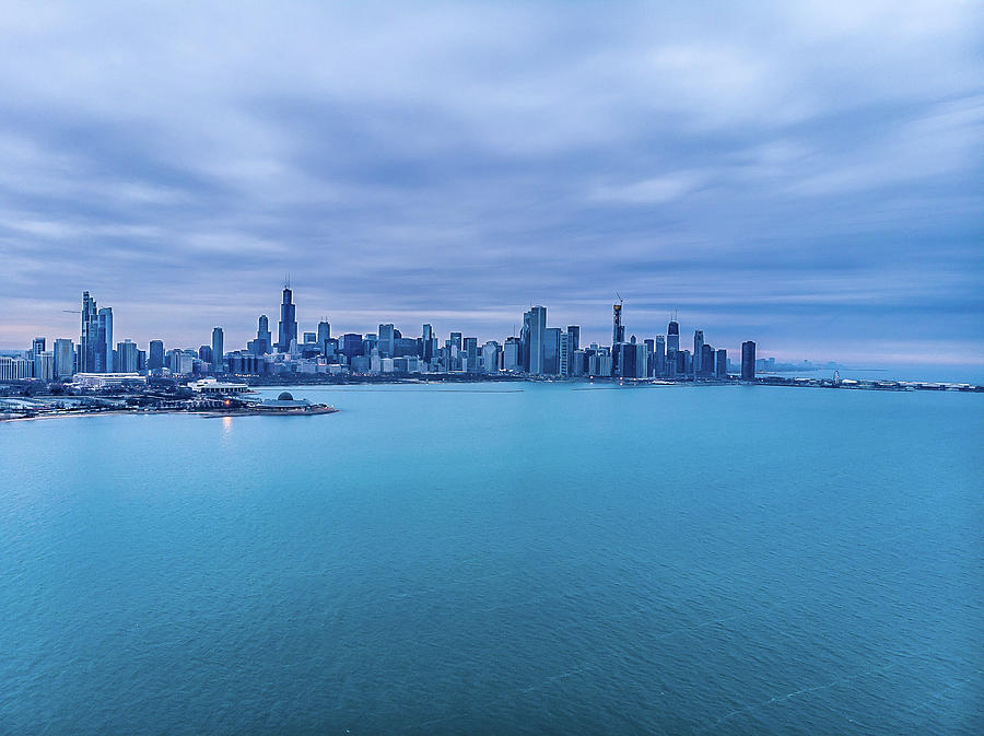 Above Lake Michigan - Chicago, IL by Bobby King
