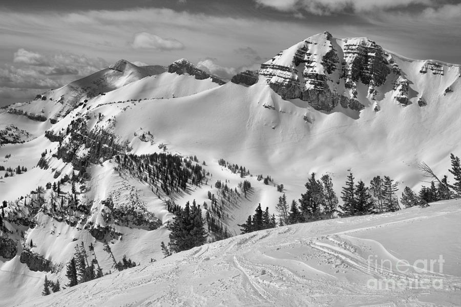 Above Rendezvous Bowl Black And White by Adam Jewell