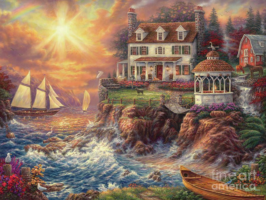 New England Painting - Life Above The Fray by Chuck Pinson