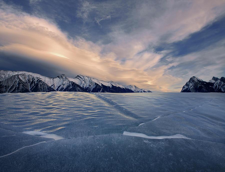 Abraham Lake Ice Wall by Dan Jurak