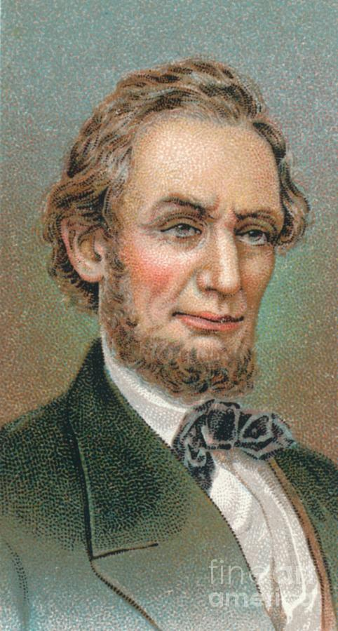 Abraham Lincoln 1809-1865 16th Drawing by Print Collector