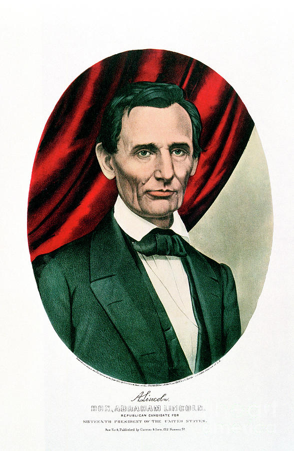 Abraham Lincoln 1809-65, C1865. Artist Drawing by Print Collector