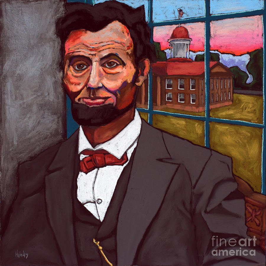 Abraham Lincoln at Sunset Overlooking The Old State  Capitol by David Hinds