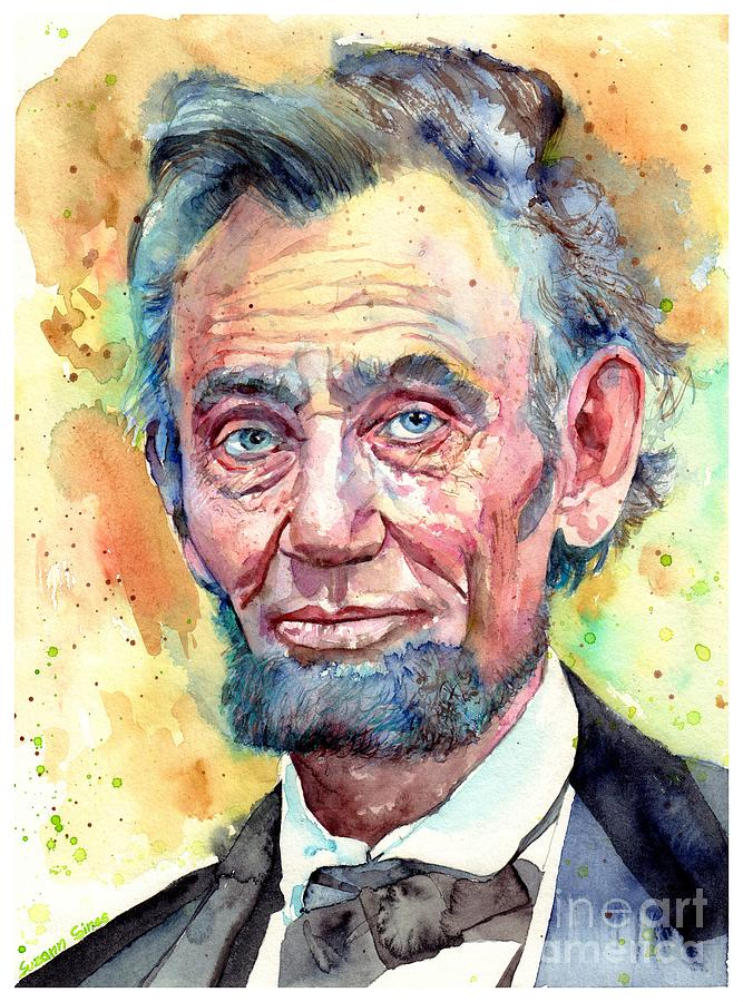 Abraham Lincoln Painting - Abraham Lincoln Portrait by Suzann Sines