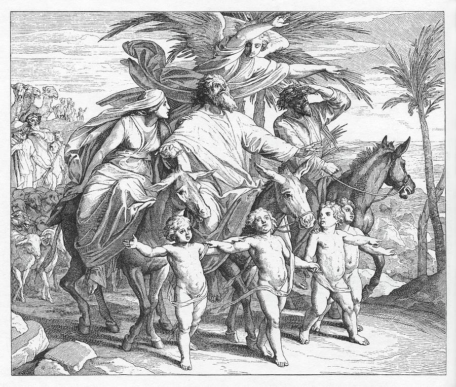 Bible Painting - Abraham Sees The Land Promised To Him, Genesis by Julius Schnoor von Carolsfeld
