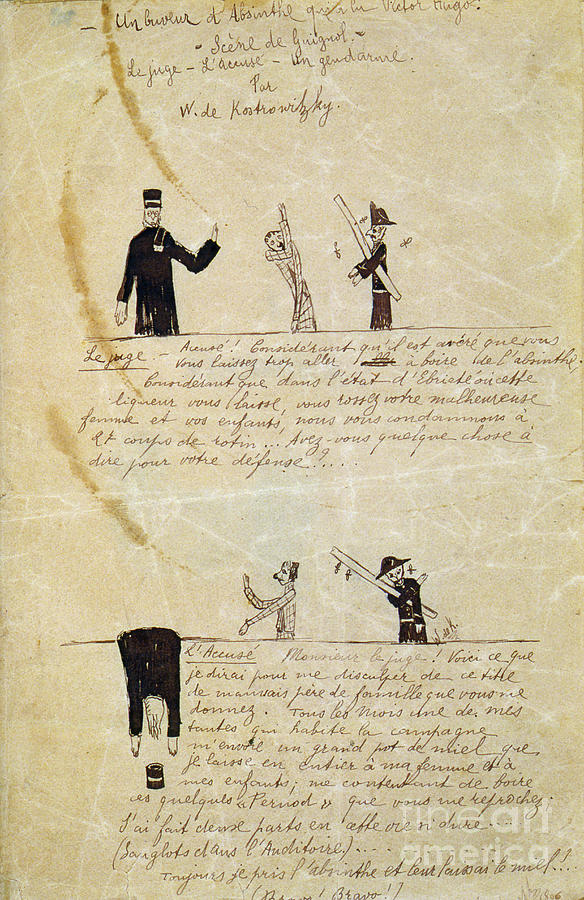 Absinthevictor Hugo, C1895-1900. Artist Drawing by Print Collector
