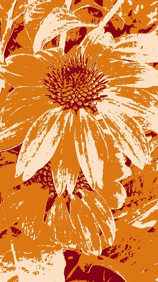 Abstract Cone Flower by Kathy Barney