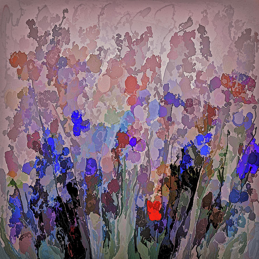 Lena Owens Painting - Absract Flowerscape Painting by OLena Art - Lena Owens