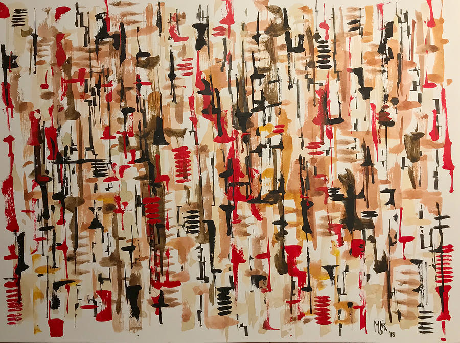 Abstract Painting - Abstract 01 by Monika Arturi