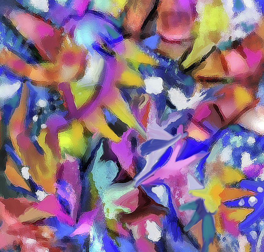Abstract 422 - detail by Jean Batzell Fitzgerald