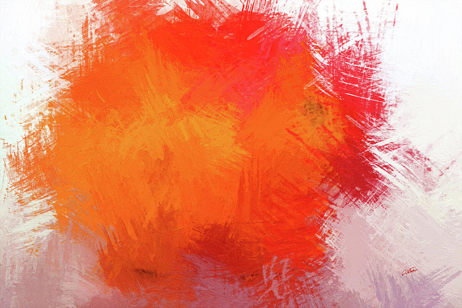 Abstract in Orange 1 - DWP215490 by Dean Wittle