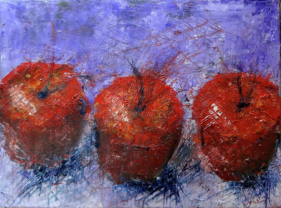 abstract apples by Katy Hawk