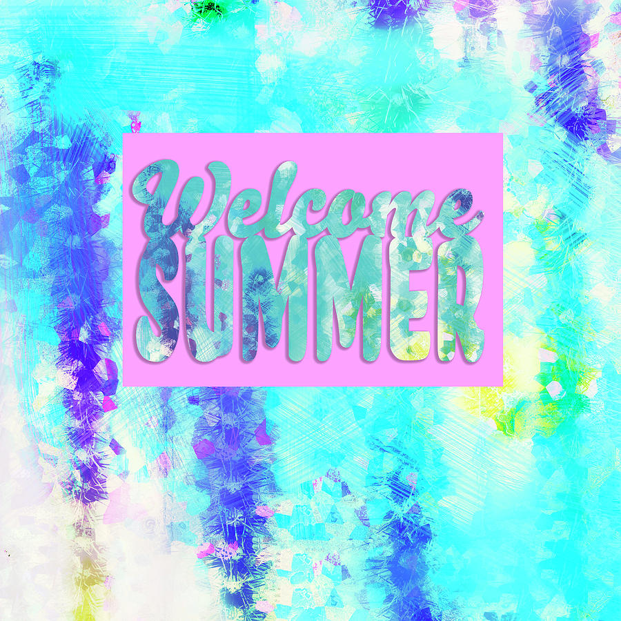 Welcome Summer Desert Print by Marianne Campolongo