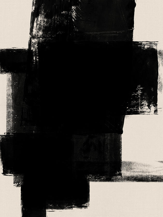 Black And White Mixed Media - Abstract Black And White No.1 by Naxart Studio