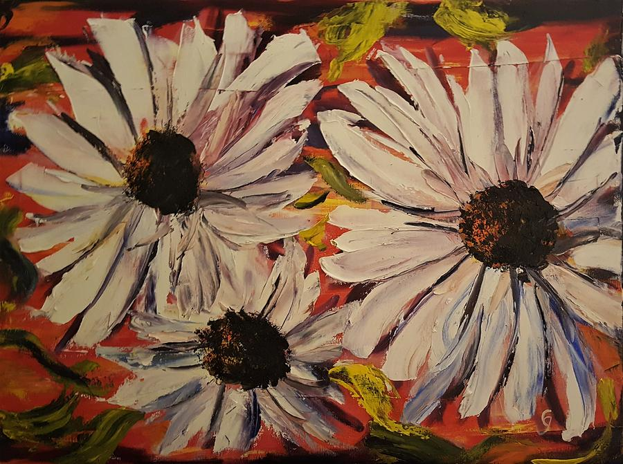 Abstract Black Eyed Susans       45 by Cheryl Nancy Ann Gordon
