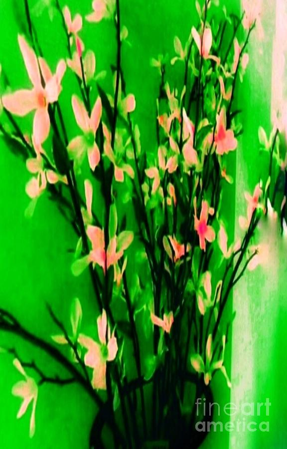 Abstract Photograph - Abstract Blossoms by Lisa Simmons