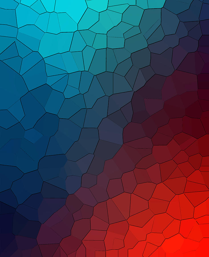 Abstract Blue Red Background