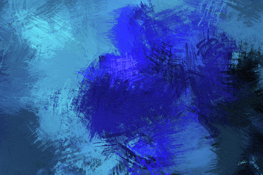 Abstract Blue Rose - DWP165819 by Dean Wittle