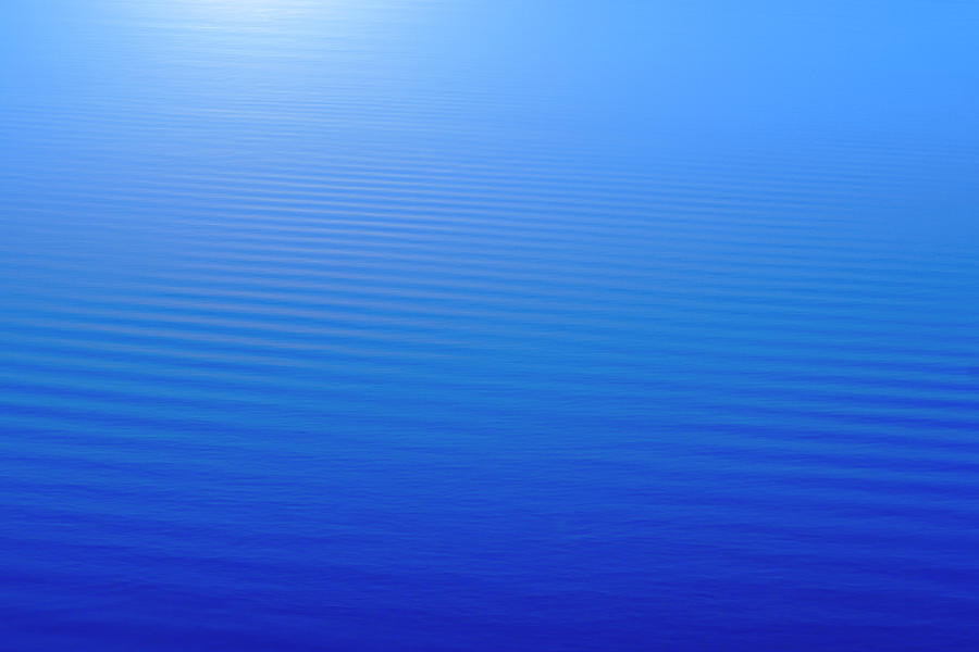 Abstract Blue Water Background With Photograph by Hanis