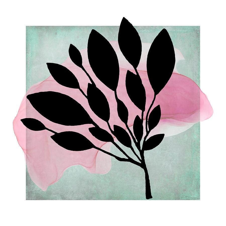 Abstract Botanical Pink Splash by Patricia Strand