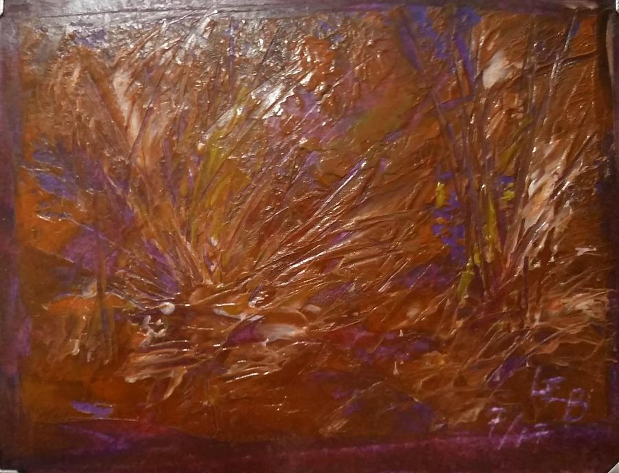 Abstract brown feathers by Lorraine Bradford